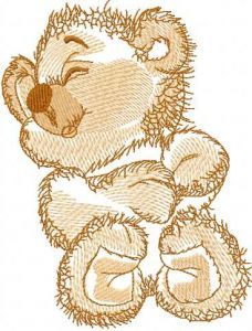 Funny teddy bear 3 embroidery design
