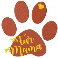 Fur mama embroidery design