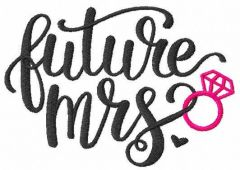 Future mrs free embroidery design