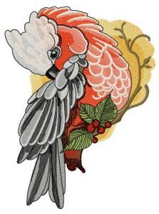 Galah embroidery design