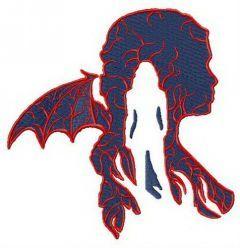 Game of Thrones Daenerys Targaryen silhouette embroidery design