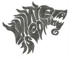 Game of Thrones logo embroidery design