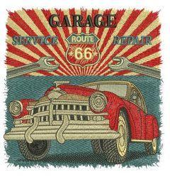 Garage service repair embroidery design