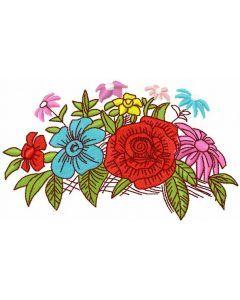 Garden bouquet free embroidery design