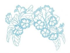 Garden flowers hair decoration embroidery design