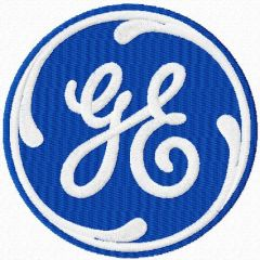 General Electric logo embroidery design