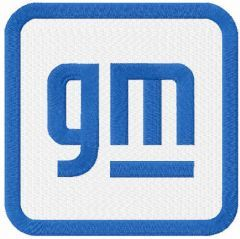 General Motors 2021 logo embroidery design