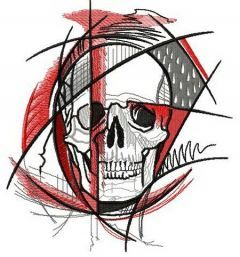 Geometry of death embroidery design