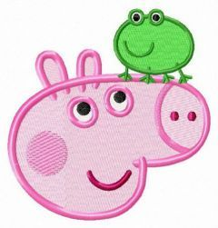 George and frog embroidery design