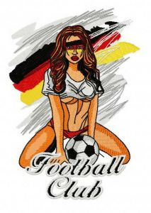 German football fan embroidery design