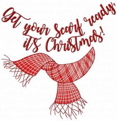 Get your scarf ready, it's Christmas embroidery design