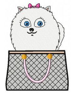 Gidget in hand bag machine embroidery design
