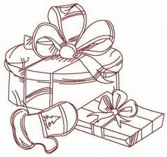 Gifts from Santa embroidery design