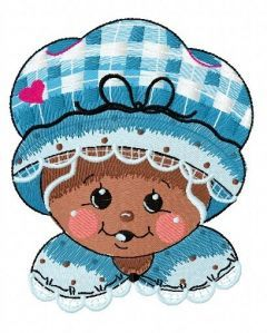 Gingerbread granny 3 embroidery design