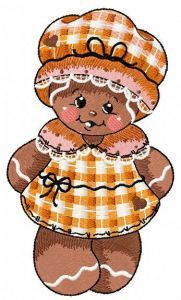 Gingerbread granny embroidery design