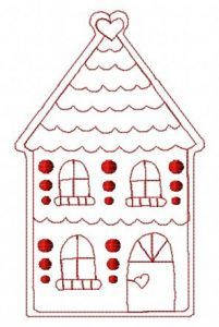 Gingerbread house 10 embroidery design