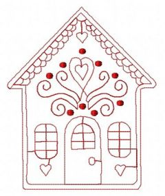 Gingerbread house 11 embroidery design
