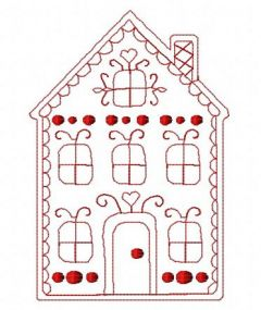 Gingerbread house 12 embroidery design