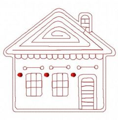 Gingerbread house 5 embroidery design