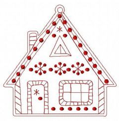 Gingerbread house 7 embroidery design