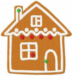 Gingerbread house 15 embroidery design