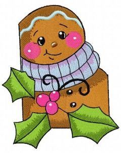 Gingerbread man 3 embroidery design