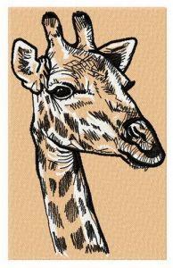 Giraffe 2 embroidery design