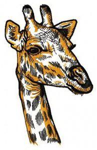 Giraffe 3 embroidery design