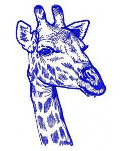 Giraffe 4 embroidery design