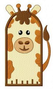 Giraffe glove embroidery design