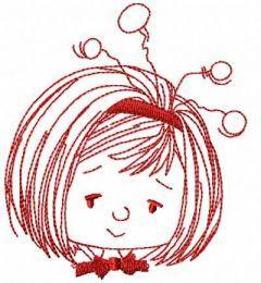 Girl fairy costume embroidery design