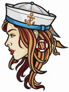 Girl sailor embroidery design