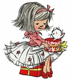 Girl's presents 2 embroidery design