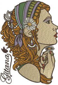 Gitana embroidery design