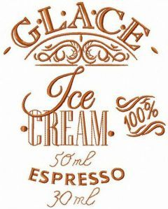 Glace recipe 2 embroidery design