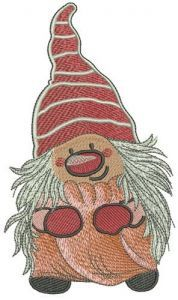 Gnome after shower embroidery design