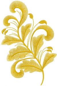 Gold branch 2 embroidery design