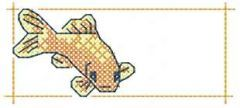 Gold fish 4 embroidery design