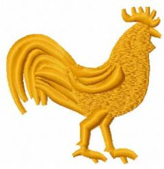 Gold rooster embroidery design