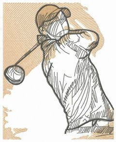 Golfer 3 embroidery design