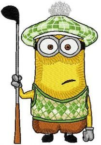 Golfing Minion embroidery design