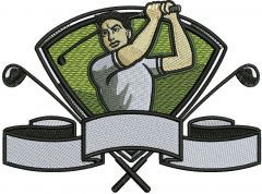 Golfer 2 embroidery design