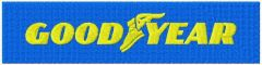 Goodyear Tire and Rubber Company logo embroidery design