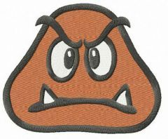 Goomba head embroidery design