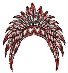 Gorgeous warbonnet embroidery design