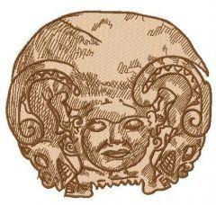 Gorgon embroidery design
