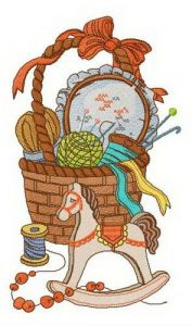 Granny's basket embroidery design