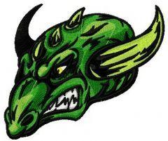 Grass dragon embroidery design