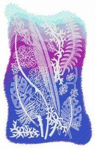 Grass print embroidery design