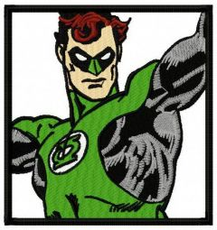 Green Lantern 1 embroidery design